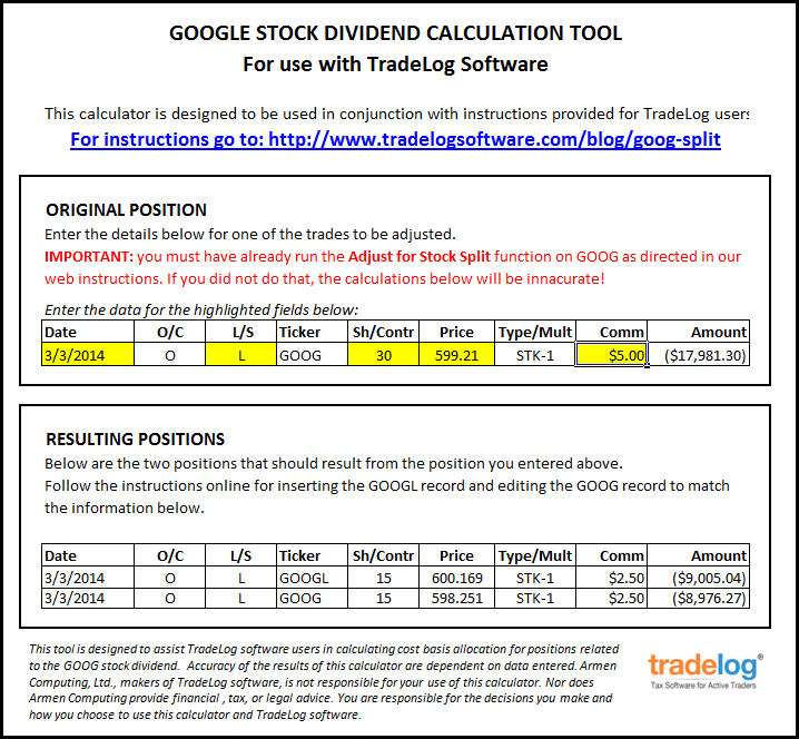 Stock option trade calculator