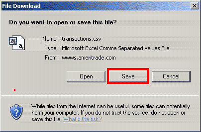 Importing from a CSV File - TD Ameritrade – TradeLog Software