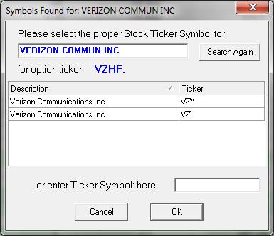 Changing Stock Descriptions To Ticker Symbols Tradelog Software