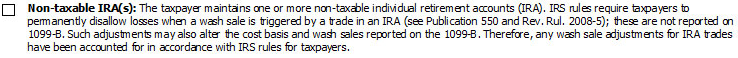 5. Non-Taxable IRA(s) Checkbox