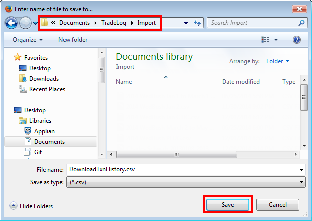 Importing from a CSV File - E*Trade Financial – TradeLog Software