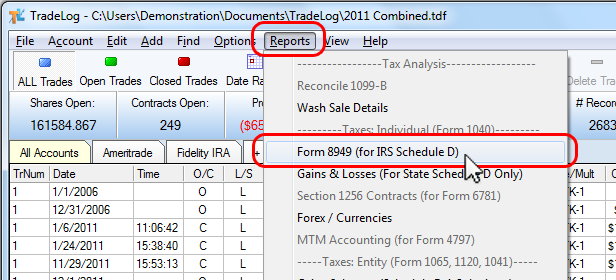 Irs Form 8949 Tradelog Software