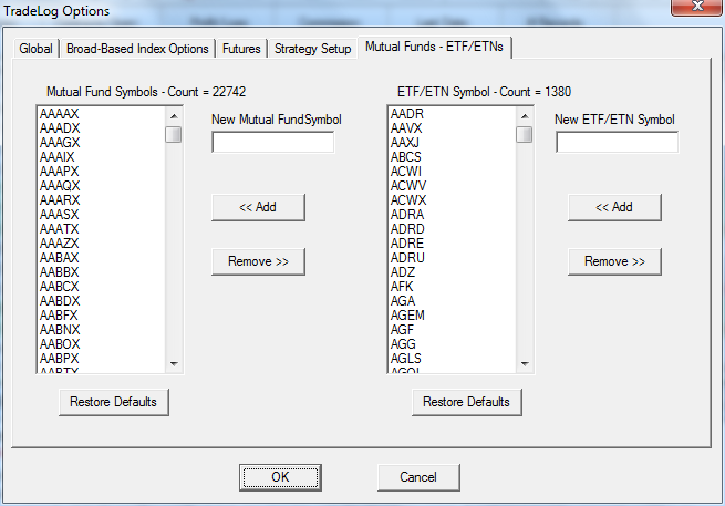 Mutual Funds Etfetns Tradelog Software