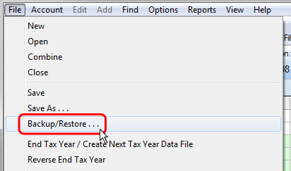Restore a Backup Data File – TradeLog Software