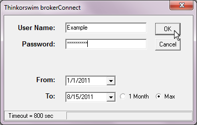 Importing with BrokerConnect - Thinkorswim Legacy – TradeLog Software